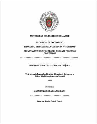 A tesis