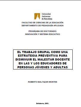 El trabajo Grupal como una Estrategia preventiva para disminuir el malestar docente en las y los educadores de personas jovenes y adultas