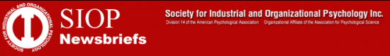 Society for Industrial and Organizational Psychology
